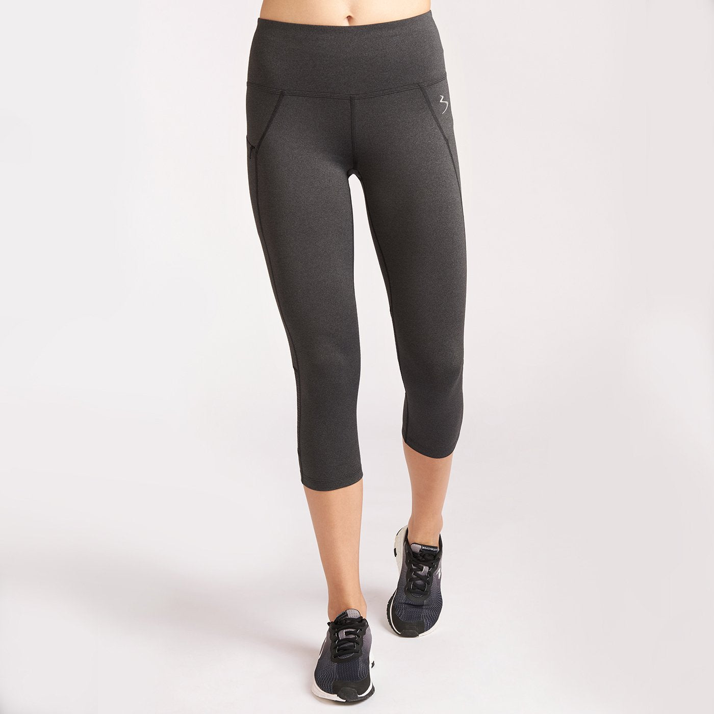 Infuse Crop Tight Mid-Rise Black Heather