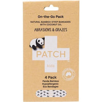 PATCH ON-THE-GO ABRASIONS & GRAZES - COCONUT OIL KIDS ADHESIVE BANDAGES - 4 PACK