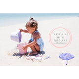 SCRUNCH DUSTY PURPLE + PINK SPADE BEACH SET