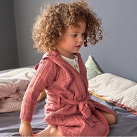 LÄSSIG MUSLIN BATHROBE - RUST