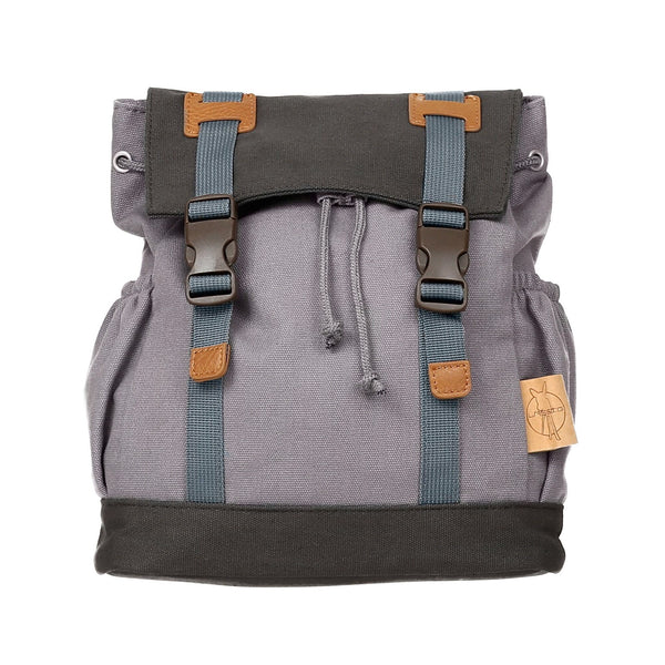 LÄSSIG LITTLE ONE & ME VINTAGE BACKPACK, SMALL GREY