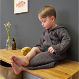 LÄSSIG MUSLIN BATHROBE - ANTHRACITE