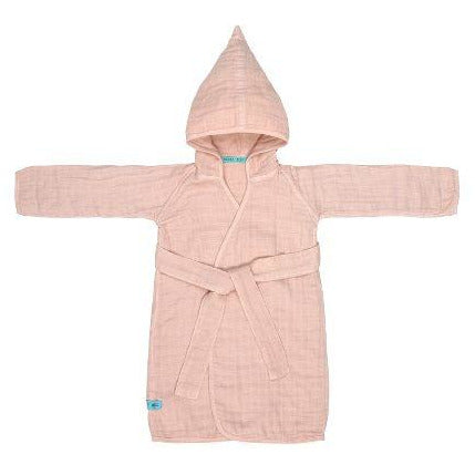 LÄSSIG MUSLIN BATHROBE - LIGHT PINK