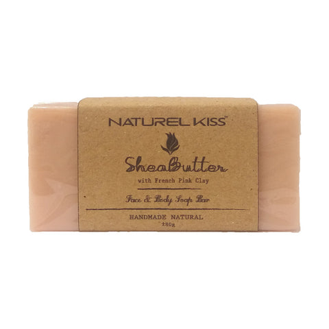 Naturel Kiss Shea Butter with French Pink Clay Face & Body Soap Bar