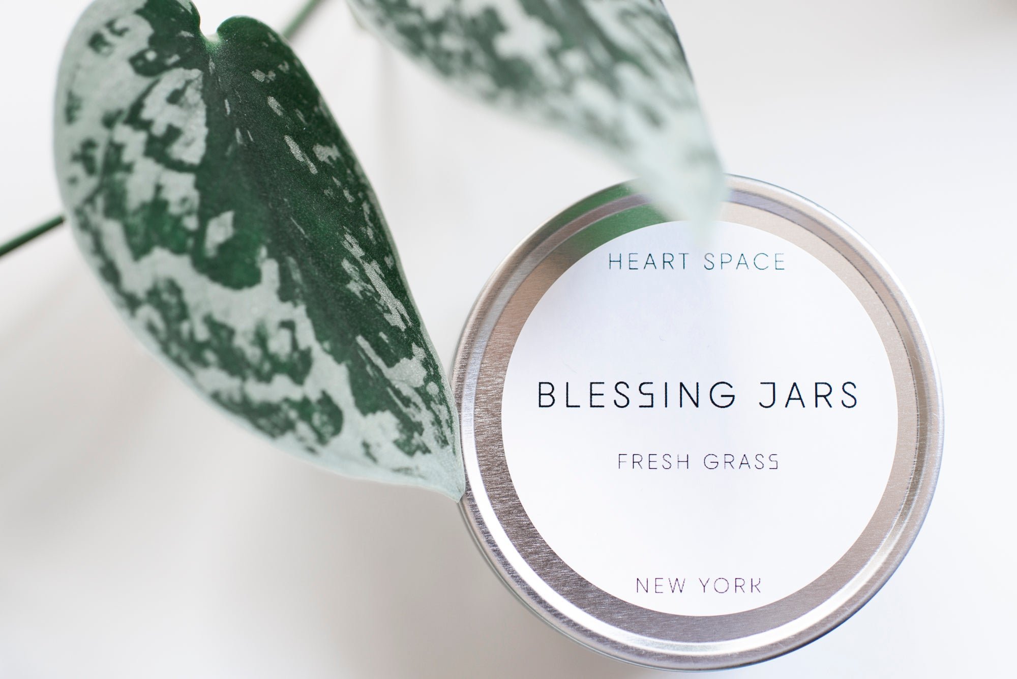 BLESSING JARS. FRESH CUT GRASS Soy Wax Candle, 8oz