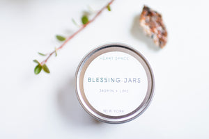 BLESSING JAR. JASMINE & LIME Soy Wax Candle. 8oz