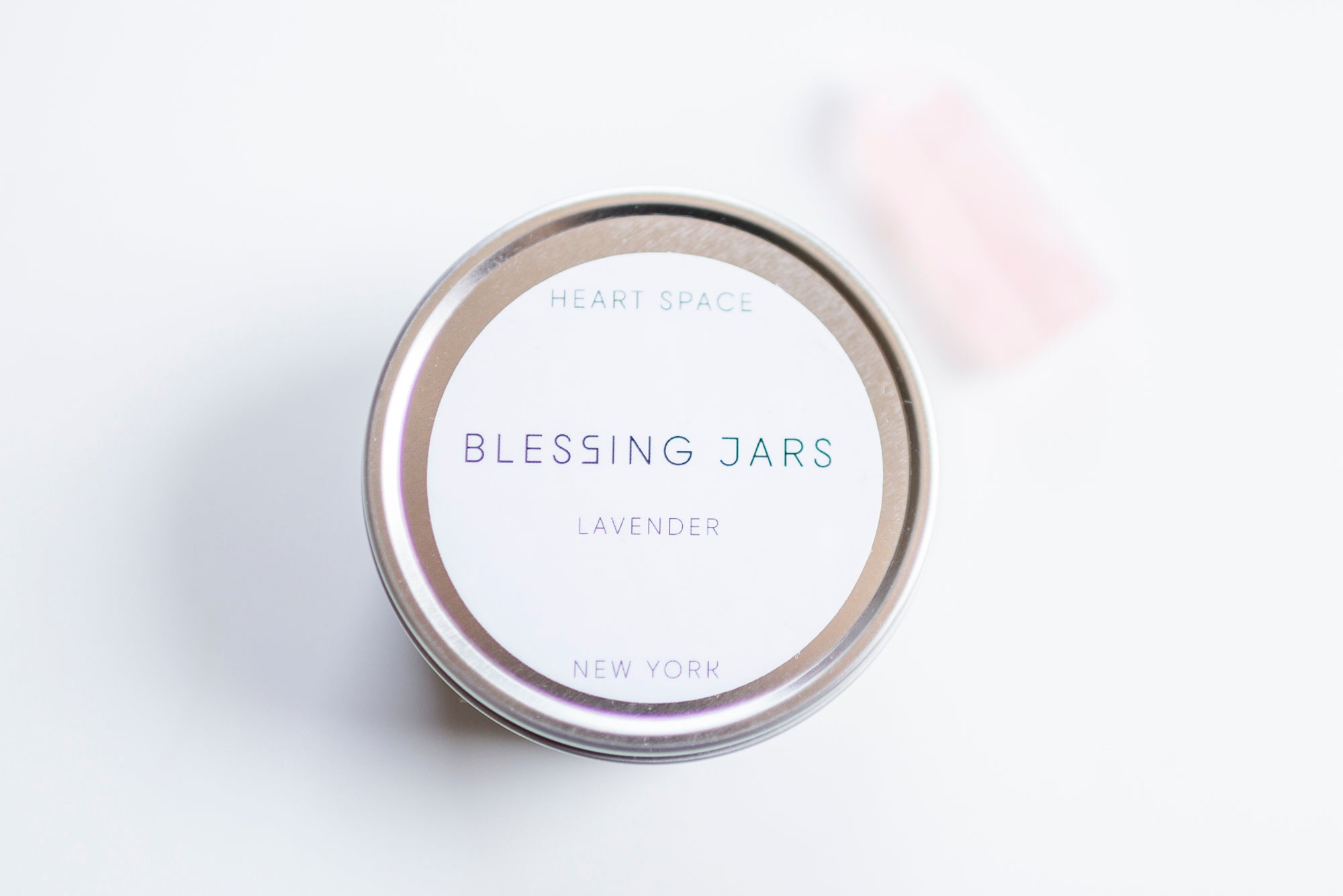 BLESSING JAR. LAVENDER Soy Wax Candle. 8oz