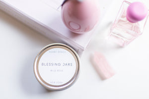 BLESSING JAR. WILD ROSE Soy Wax Candle. 8oz