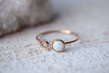White Opal Ring - Metalvine