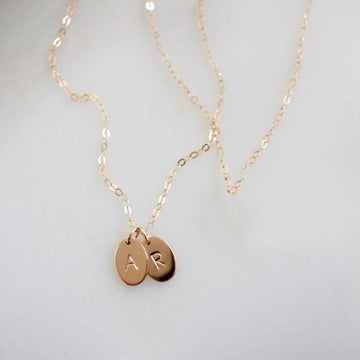 Oval Initial Necklace