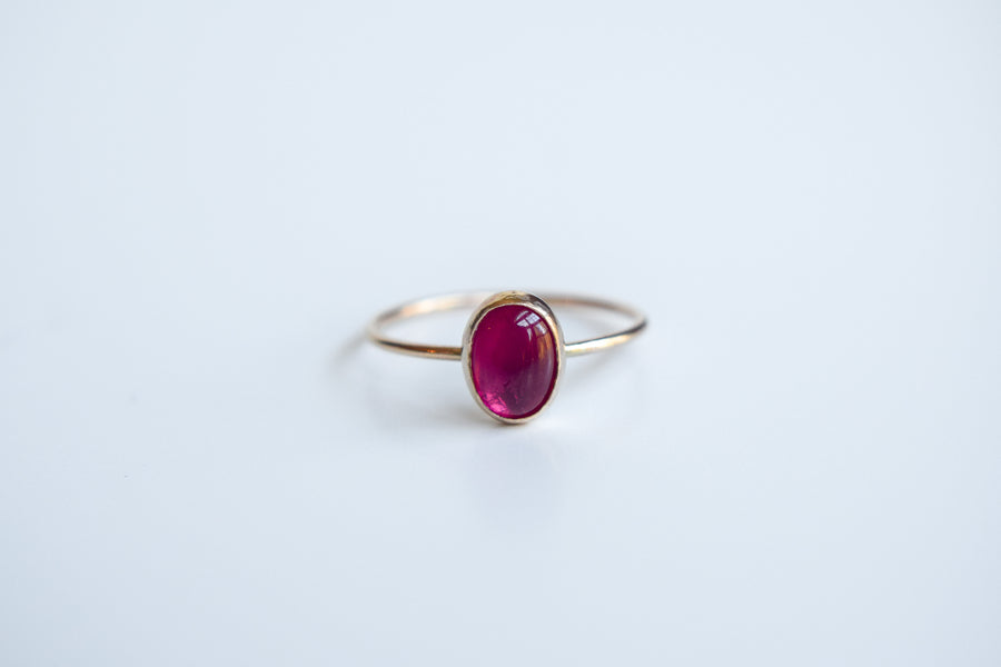 14k Solid Gold Natural Ruby Ring