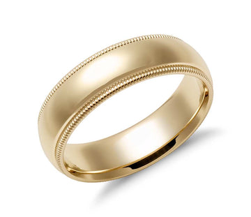 Milgrain Comfort Wedding Ring