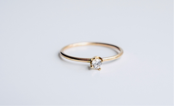 The little Diamond Ring in 14k