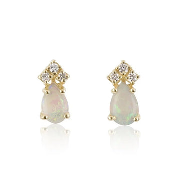 Natural Opal & Diamond earrings