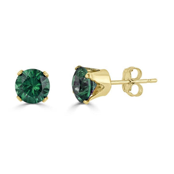 14k Emerald Earrings