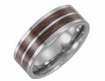Carbon Fiber & Wood Inlay Band