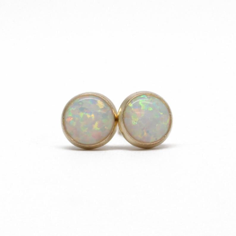 Opal Earrings- Opal Studs