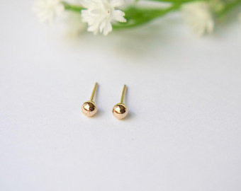 14k Ball Earrings