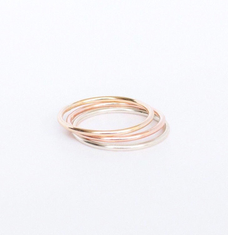 Smooth Stacking Ring - Metalvine
