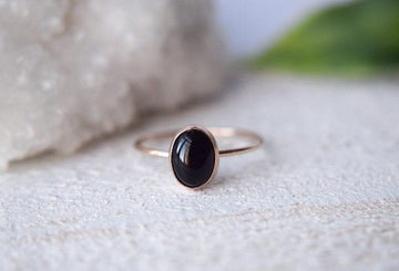 14k Solid Gold Black Onyx Ring - Metalvine