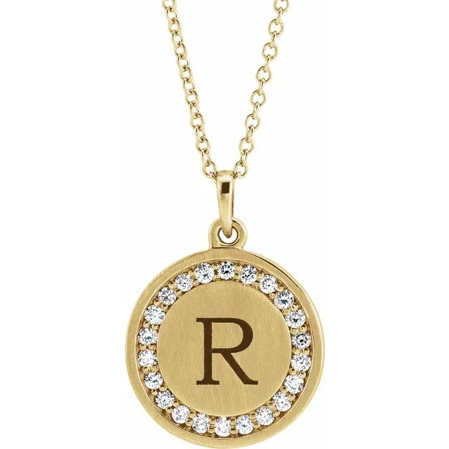 Diamond Custom Letter Necklace