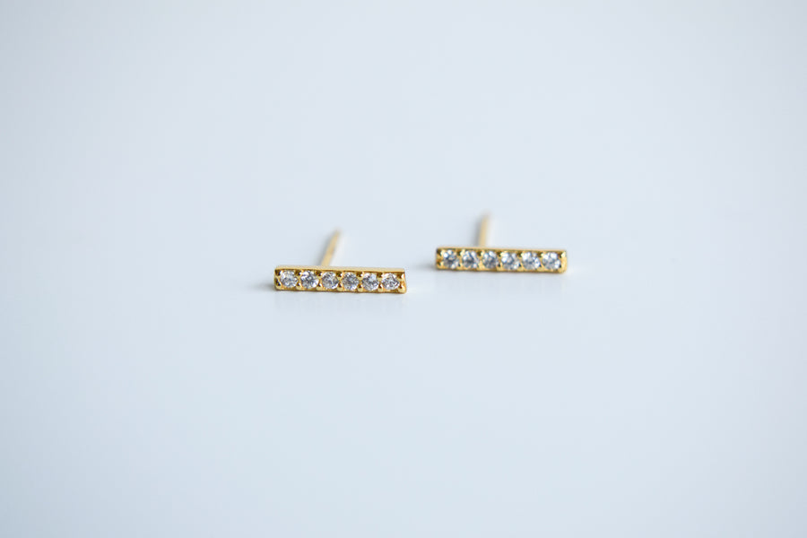 Parallel line Earrings | Bar Line Earrings