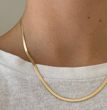 Dainty Herringbone Necklace