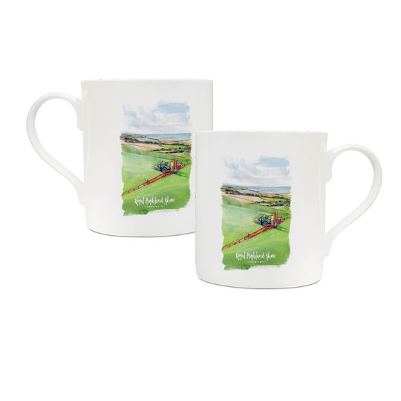 A Farmer in his Field China Mug