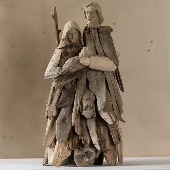 Driftwood Holy Family