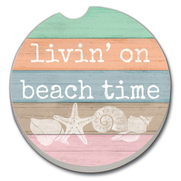 Car Coaster - Livin' On Beach Time