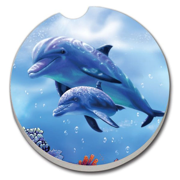 Car Coaster - Dolphin with Baby