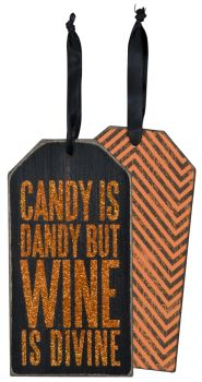 Wine Bottle Hanging Tags - Halloween Assorted