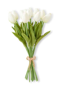 "13.5"" White Real Touch Mini Tulip Bundle"