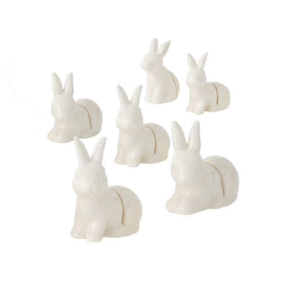 Bunny Placecard Holder S/6