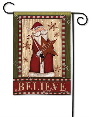 Santa with Star Garden Flag