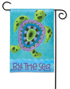 Turtle by the Sea Garden Flag