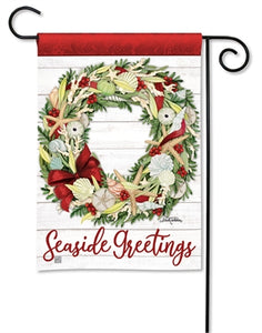 Seaside Greetings Garden Flag