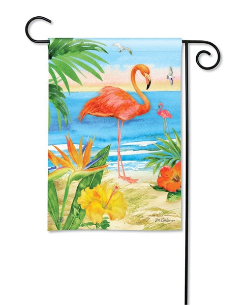 Flamingo Beach Garden Flag