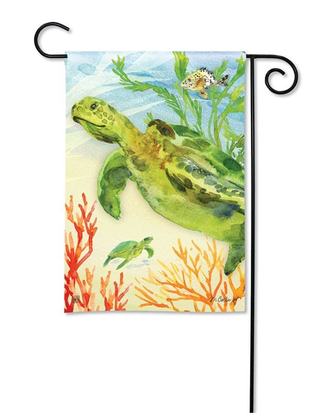 Green Sea Turtle Garden Flag