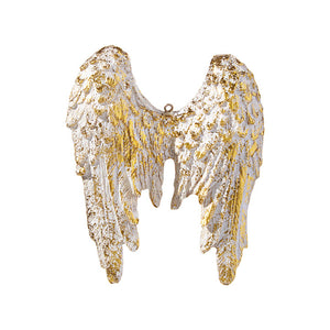 "4.75"" Wings Ornament - Peace On Earth"