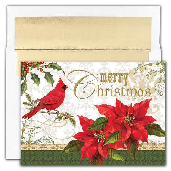 Merry Christmas Cardinal Boxed Holiday Cards