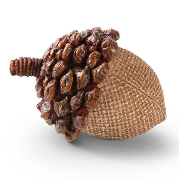 2.5 Inch Light Brown Resin Acorn with Pinecone Top
