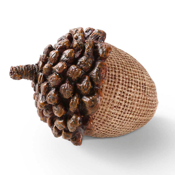 3.5 Inch Light Brown Resin Acorn with Pine Cone Top