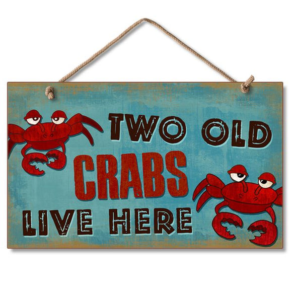 Hanging Sign - Two Old Crabs