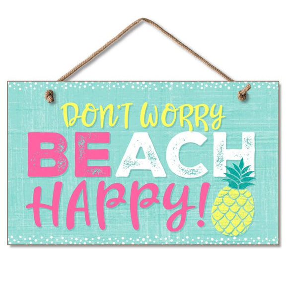 Hanging Sign - Beach Happy