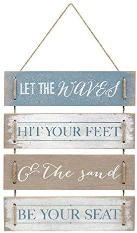 Let The Waves Hit Your Feet Wall Sign
