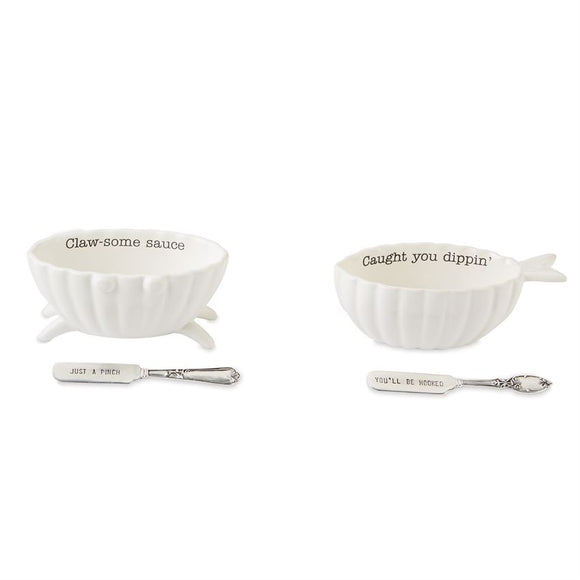Seafood Dip Bowl Sets - 2 Assorted