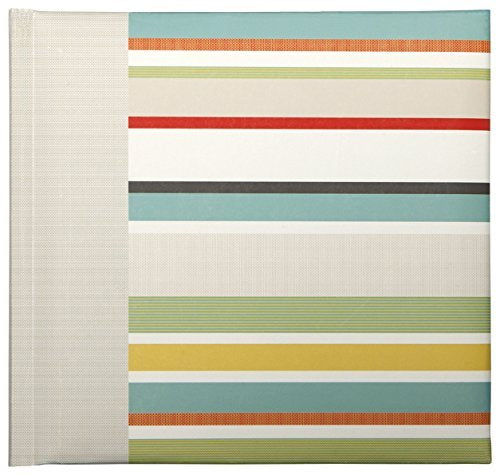 Corsica Stripe Slim Bound Photo Album - Small