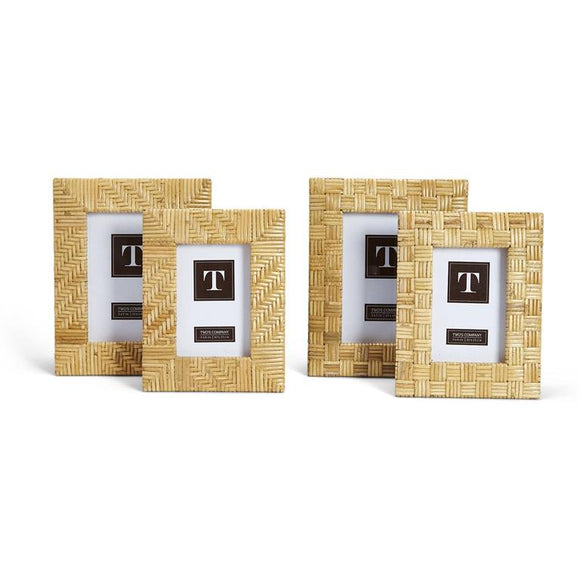 Rattan Photo Frame - 2 Sizes 2 Styles