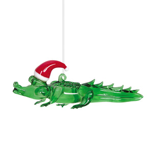 Glass Alligator Ornament